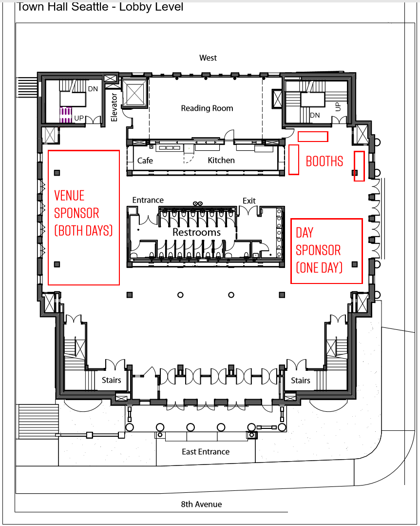 sponsor areas at Town Hall Seattle